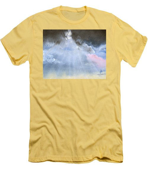 Silver Lining Behind The Dark Clouds Shining Men's T-Shirt (Athletic Fit)
