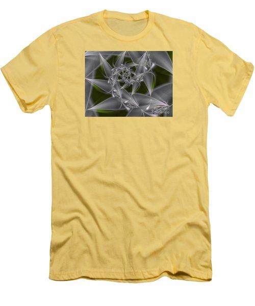 Men's T-Shirt (Slim Fit) featuring the digital art Silverleaves by Karin Kuhlmann