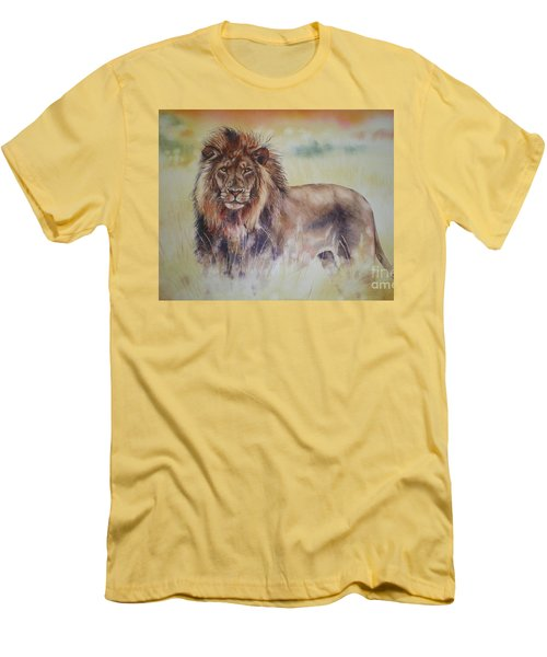 Simba Men's T-Shirt (Slim Fit) by Sandra Phryce-Jones