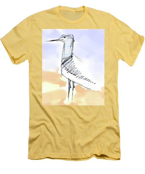 Men's T-Shirt (Slim Fit) featuring the drawing Simon by Carolyn Weltman