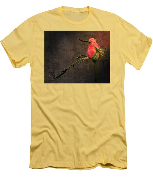 Single Rose Men's T-Shirt (Slim Fit) by Ann Lauwers