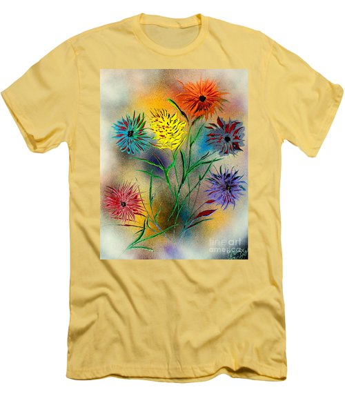 Six Flowers - E Men's T-Shirt (Athletic Fit)