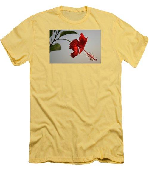 Skc 0450 Vibrant Hibiscus Men's T-Shirt (Athletic Fit)