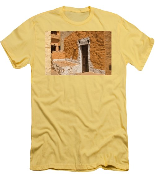 Skn 1264 The Thatched House Men's T-Shirt (Slim Fit) by Sunil Kapadia