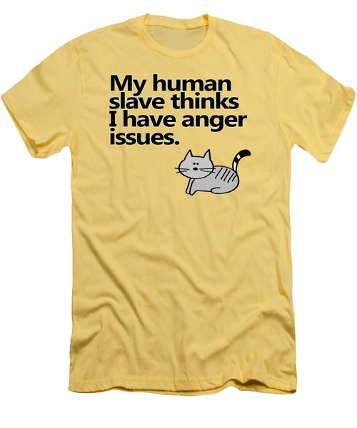 Slave To The Kitty Men's T-Shirt (Athletic Fit)