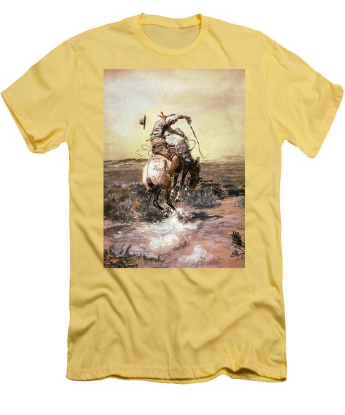 Slick Rider Men's T-Shirt (Slim Fit) by Charles Russell