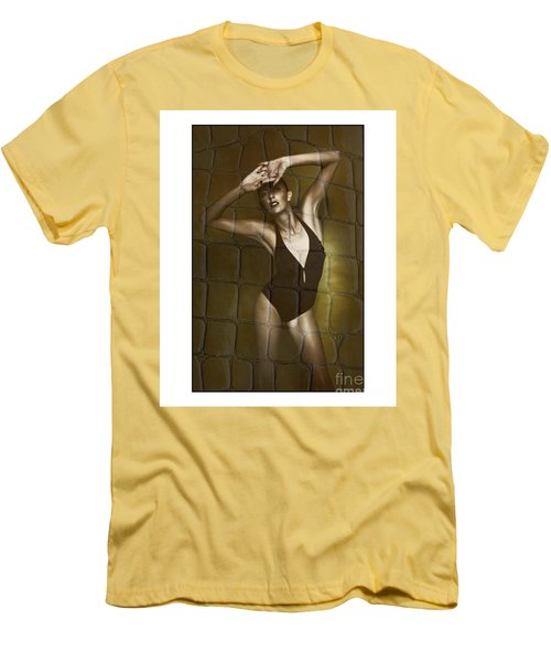 Slim Girl In Bathing Suit Men's T-Shirt (Slim Fit) by Michael Edwards