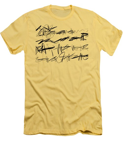 Sloppy Writing Men's T-Shirt (Athletic Fit)