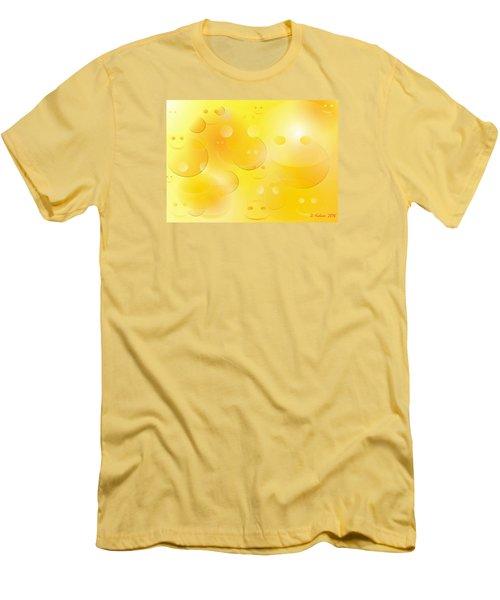 Smile Men's T-Shirt (Slim Fit) by Denise Fulmer