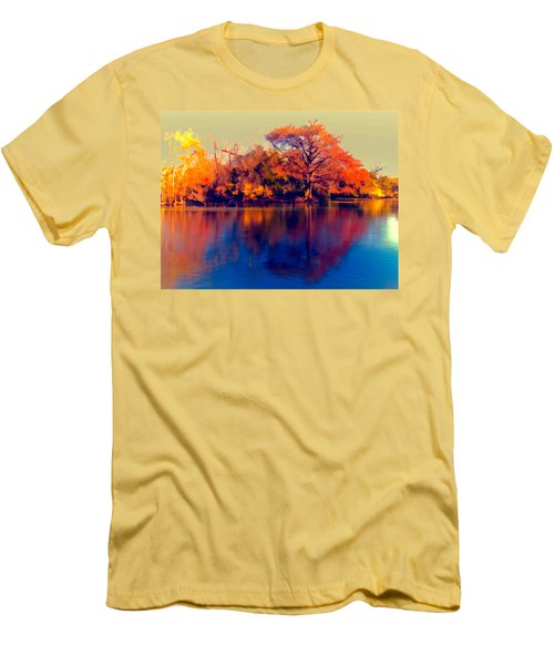 Men's T-Shirt (Slim Fit) featuring the digital art Smoke Signals by Wendy J St Christopher