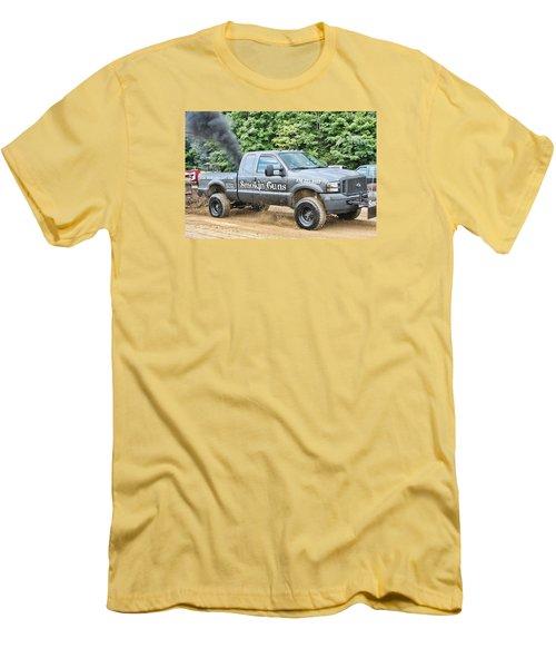 Men's T-Shirt (Slim Fit) featuring the photograph Smokin' Guns by Denise Romano