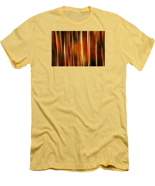 Smoky Mountains Fall Colors Digital Abstracts Motion Blur Men's T-Shirt (Slim Fit) by Rich Franco