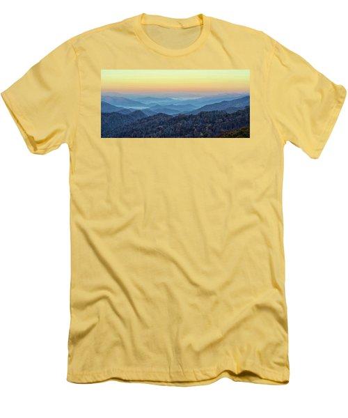 Smoky Mountains Men's T-Shirt (Slim Fit) by Nancy Landry