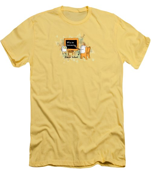 Smore School Illustrated Men's T-Shirt (Slim Fit) by Heather Applegate
