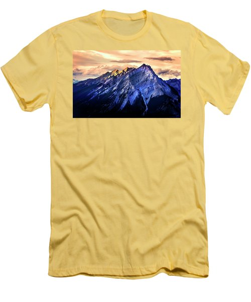 Men's T-Shirt (Athletic Fit) featuring the photograph Mount Cascade by John Poon