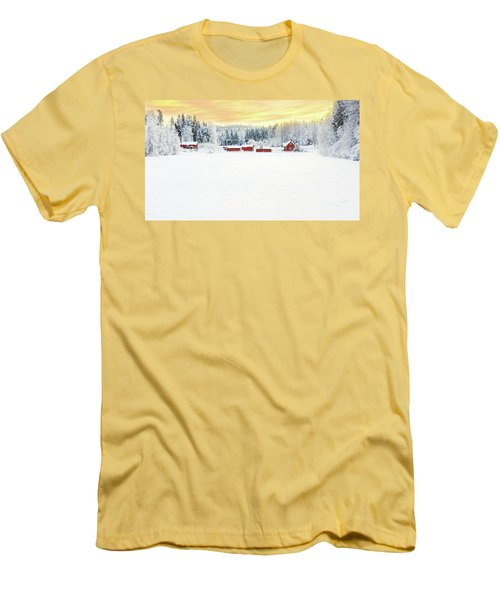 Snowy Ranch At Sunset Men's T-Shirt (Athletic Fit)
