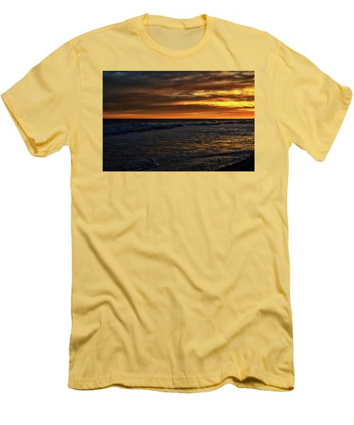 Men's T-Shirt (Slim Fit) featuring the photograph Soaring In The Sunset by Kelly Reber