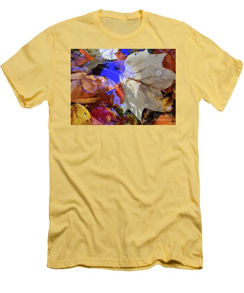 Soft Light Leaves Men's T-Shirt (Slim Fit) by Todd Breitling