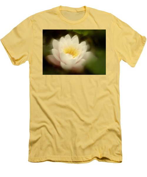 Men's T-Shirt (Slim Fit) featuring the photograph Soft Water Lily by Richard Cummings