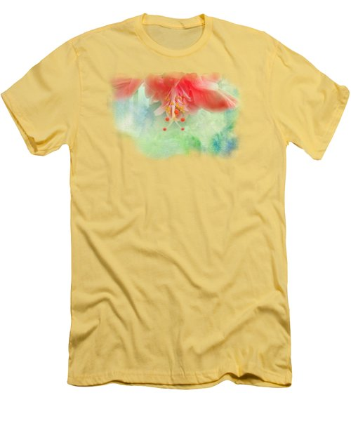 Softly Colored 1 Men's T-Shirt (Slim Fit) by Judy Hall-Folde