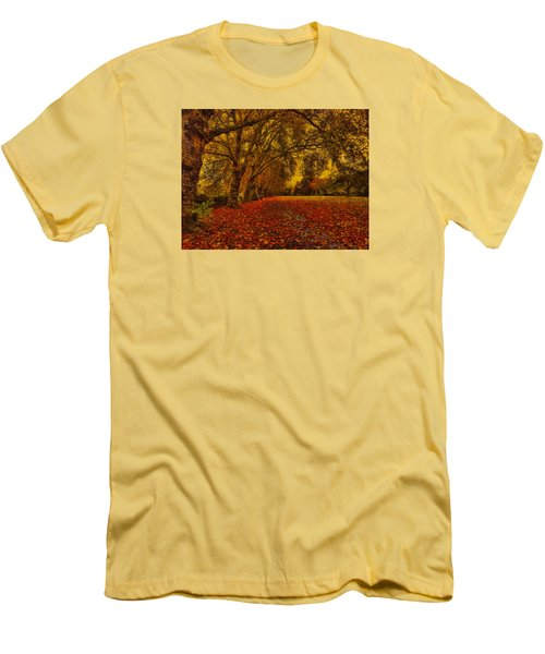 Softly Falls The Evening  Light Men's T-Shirt (Athletic Fit)