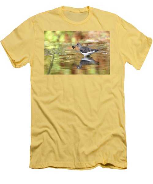 Solitary Sandpiper With Belostomatide Men's T-Shirt (Athletic Fit)