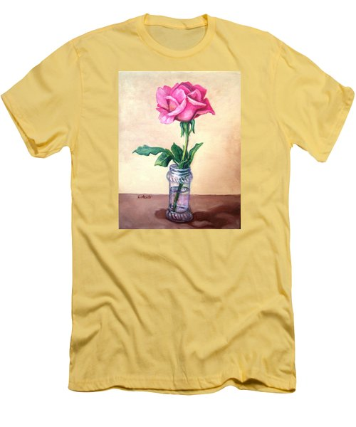 Solo Rose Men's T-Shirt (Slim Fit) by Laura Aceto