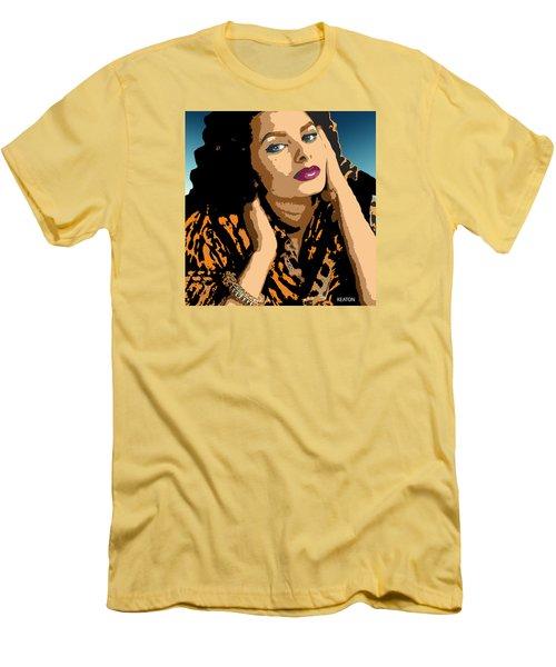Men's T-Shirt (Slim Fit) featuring the digital art Sophia by John Keaton