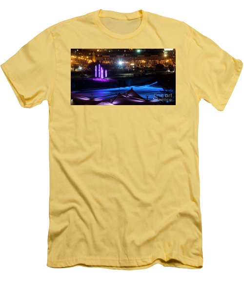 South Bend River Night Men's T-Shirt (Slim Fit) by Brian Jones