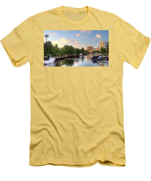 South Florida Canal Living Men's T-Shirt (Athletic Fit)