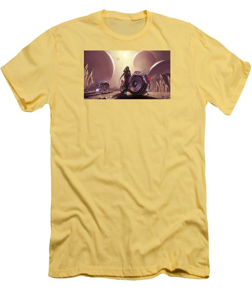 Men's T-Shirt (Slim Fit) featuring the photograph Space The Final Frontier by Lawrence Christopher