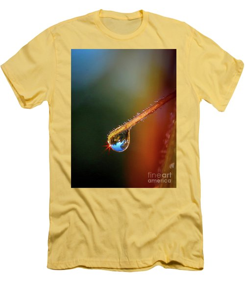 Sparkling Drop Of Dew Men's T-Shirt (Athletic Fit)