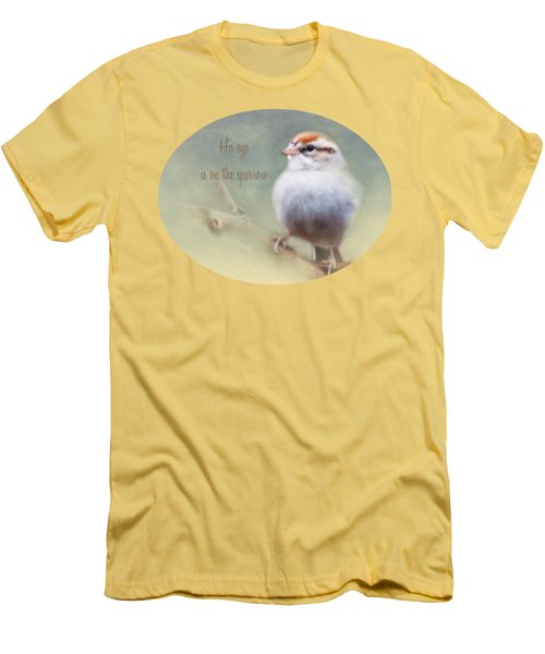 Serendipitous Sparrow - Phrase Men's T-Shirt (Slim Fit) by Anita Faye