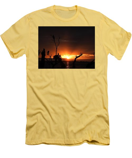 Men's T-Shirt (Slim Fit) featuring the photograph Spectacular Sunset by Betty-Anne McDonald