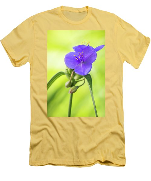 Spiderwort Wildflower Men's T-Shirt (Athletic Fit)