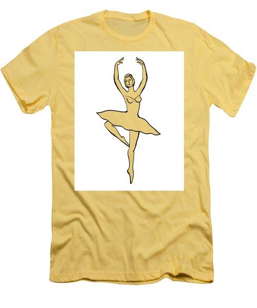 Spinning Ballerina Silhouette Men's T-Shirt (Athletic Fit)