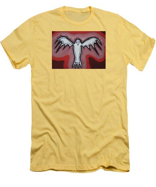 Spirit Crow Original Painting Men's T-Shirt (Athletic Fit)