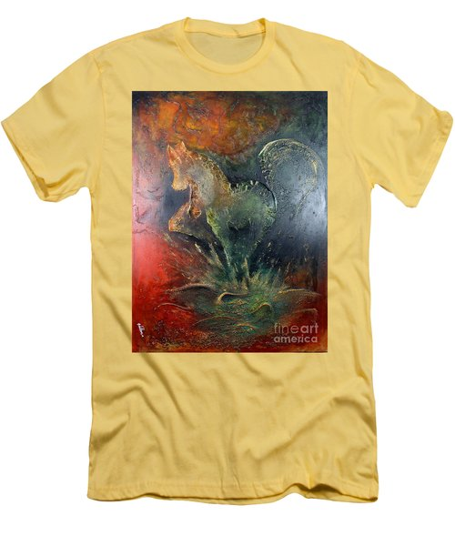 Spirit Of Mustang Men's T-Shirt (Slim Fit) by Farzali Babekhan