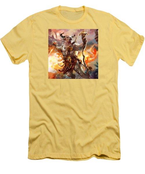 Spiritcaller Shaman Men's T-Shirt (Slim Fit) by Ryan Barger