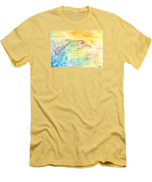 Men's T-Shirt (Slim Fit) featuring the painting Splash by Denise Tomasura