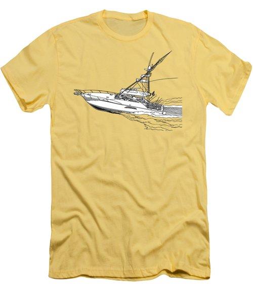 Sportfish Yacht Custom Tee Shirt Men's T-Shirt (Slim Fit) by Jack Pumphrey