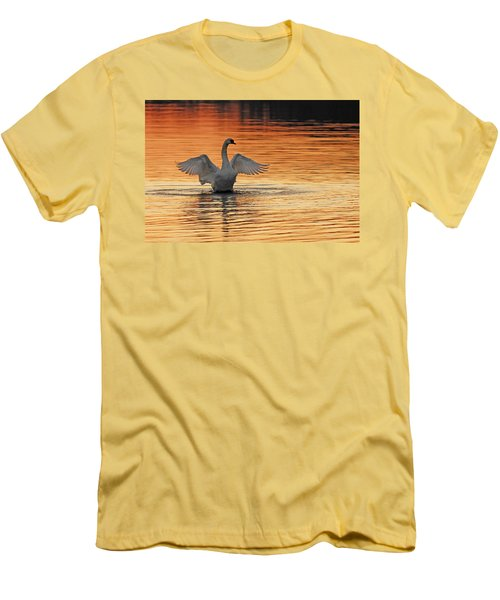Spreading Her Wings In Gold Men's T-Shirt (Athletic Fit)