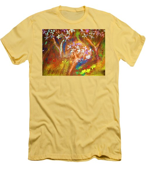 Men's T-Shirt (Slim Fit) featuring the painting Spring Blossom by Winsome Gunning