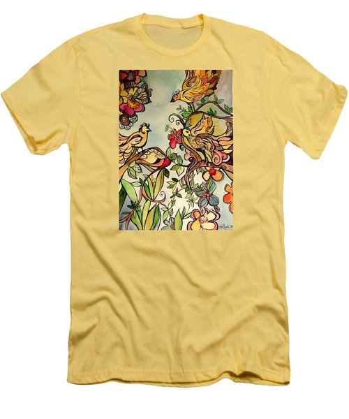 Spring Day Men's T-Shirt (Slim Fit) by Claudia Cole Meek