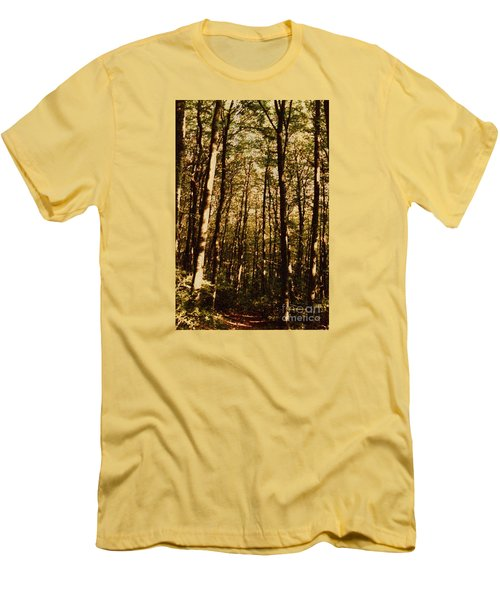 Men's T-Shirt (Slim Fit) featuring the photograph Spring Forest by Jean Bernard Roussilhe