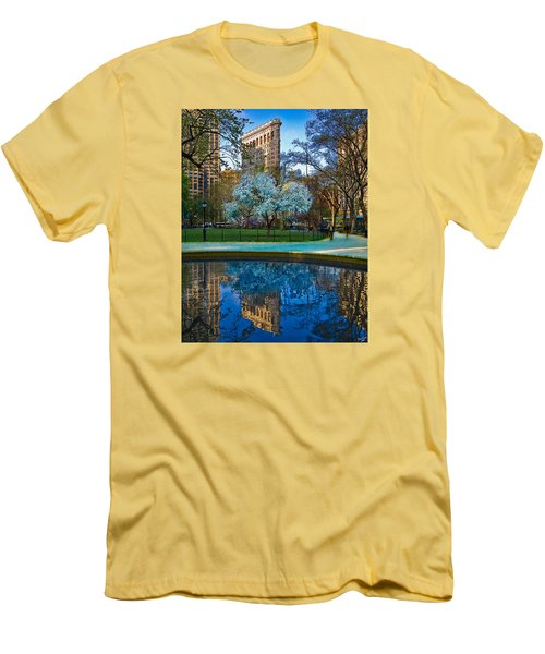 Spring In Madison Square Park Men's T-Shirt (Slim Fit) by Chris Lord