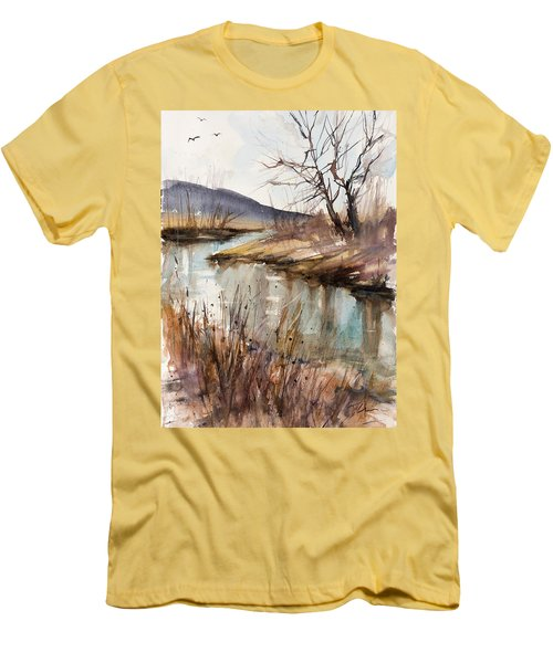 Spring Is Blushing Men's T-Shirt (Slim Fit) by Judith Levins