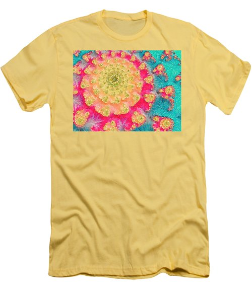 Men's T-Shirt (Slim Fit) featuring the digital art Spring On Parade 2 by Bonnie Bruno