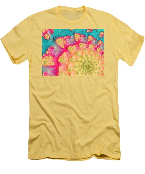 Men's T-Shirt (Slim Fit) featuring the digital art Spring On Parade by Bonnie Bruno