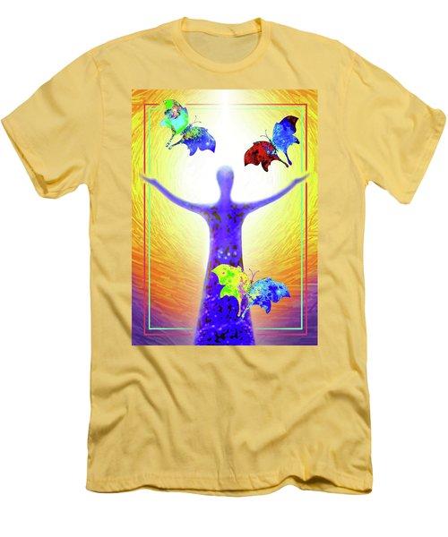 Springtime Men's T-Shirt (Slim Fit) by Hartmut Jager